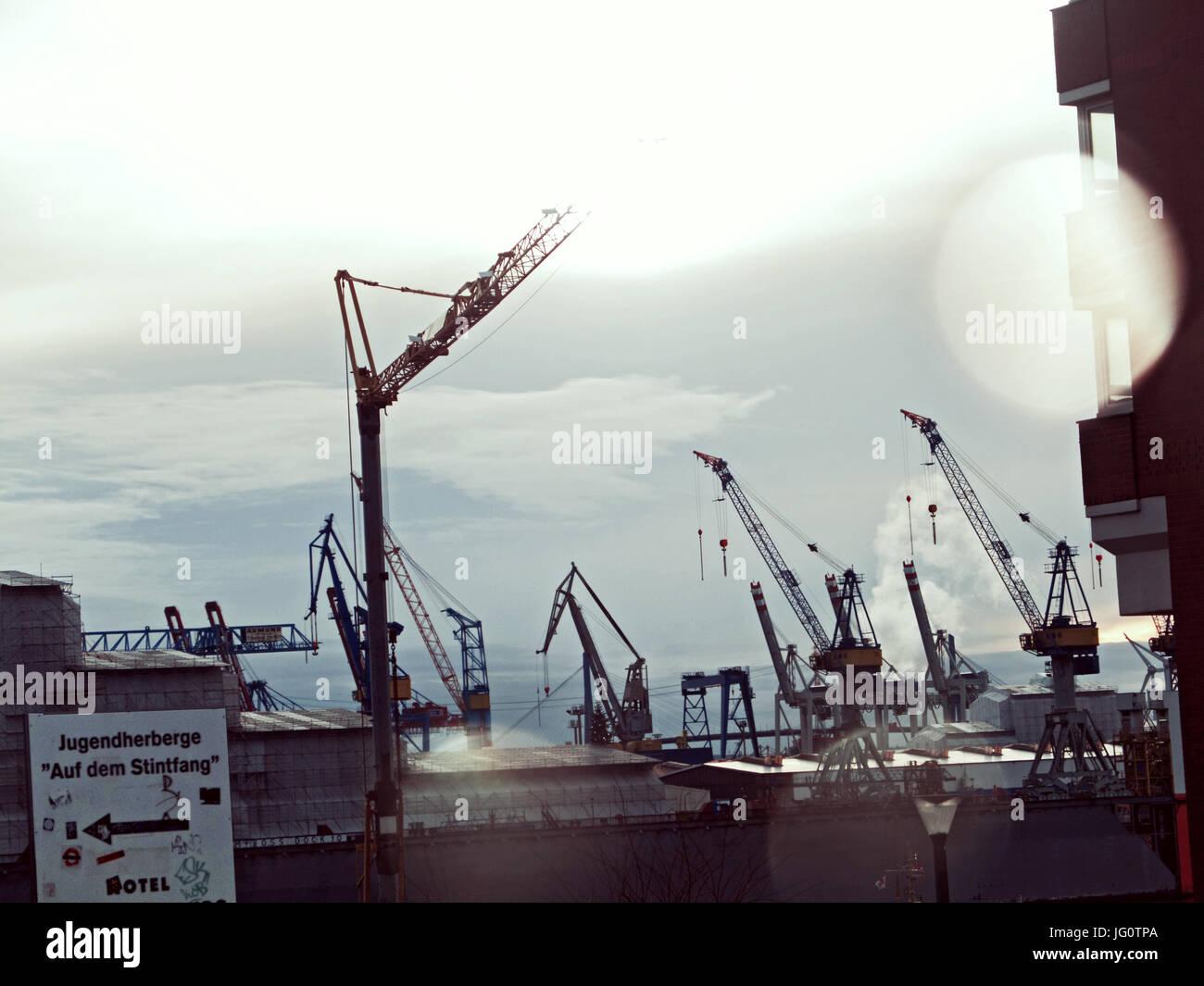 Ausblick-Docks Vom Stindfang Stockbild