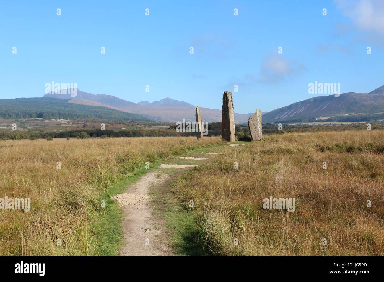 Hohen Steinkreis auf Isle of Arran Stockfoto