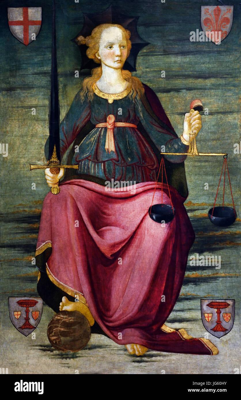 Alesso Baldovinetti (1425 ? 1499) war ein italienischer Renaissancemaler der frühen. Italien Stockbild