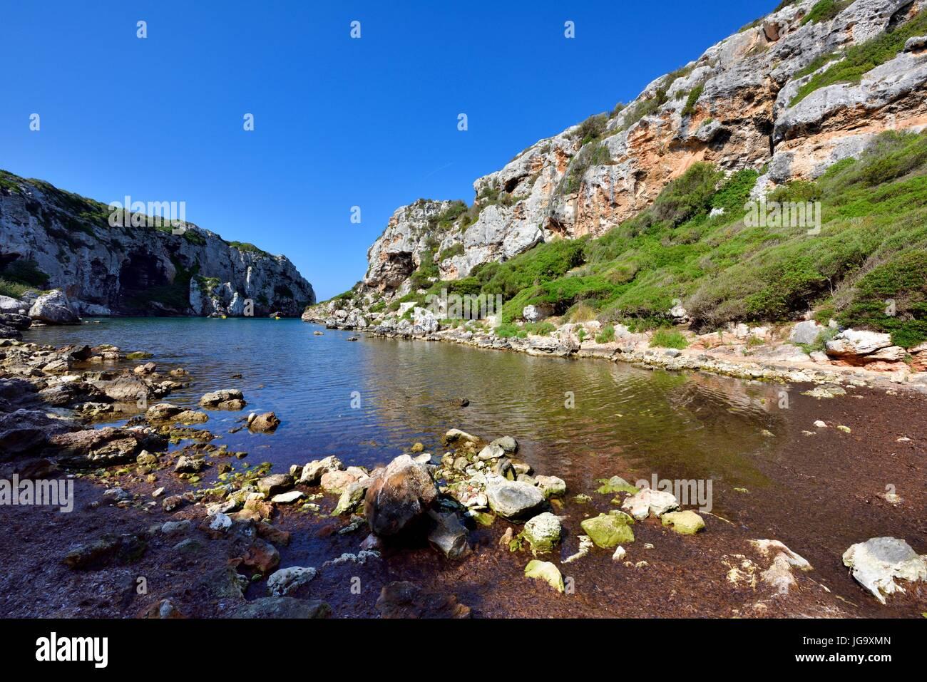 Cales Buchten Menorca Spanien Stockbild