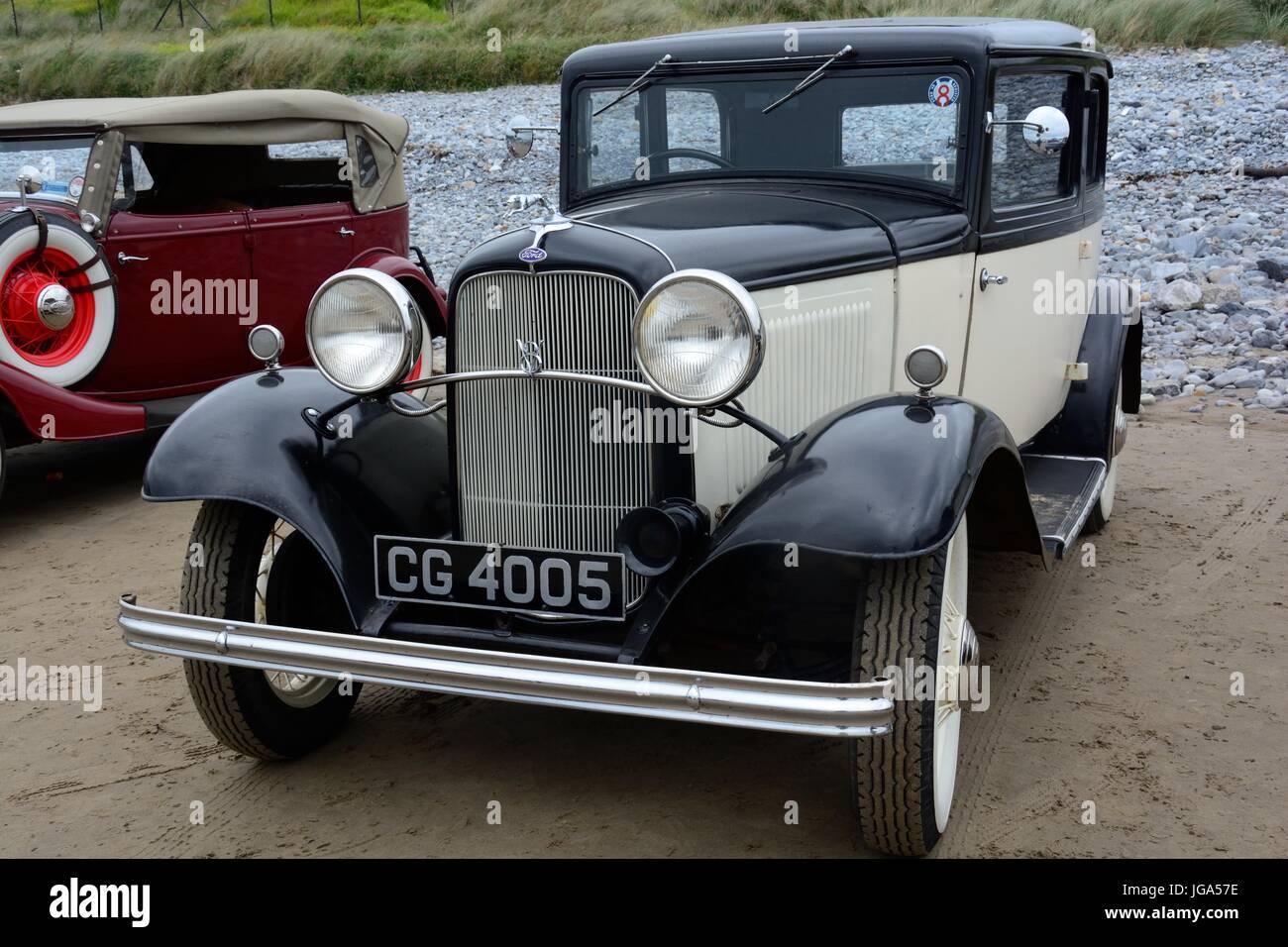 Restaurierte Oldtimer Ford V8 Model1932 produziert durch Ford Motor Company Dagenham Stockbild