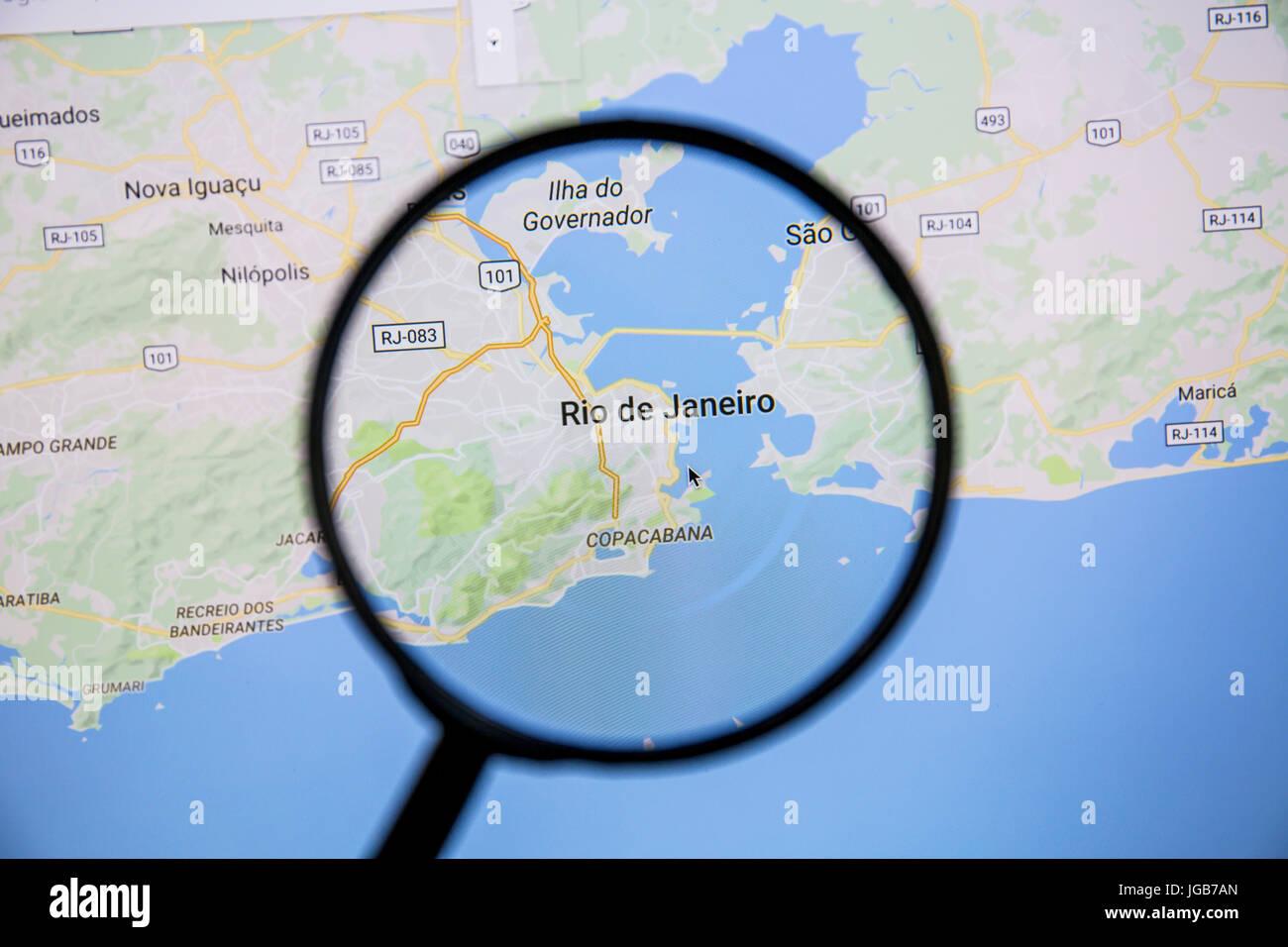 Karte von Rio de Janeiro auf Google Maps unter die Lupe. Rio ...