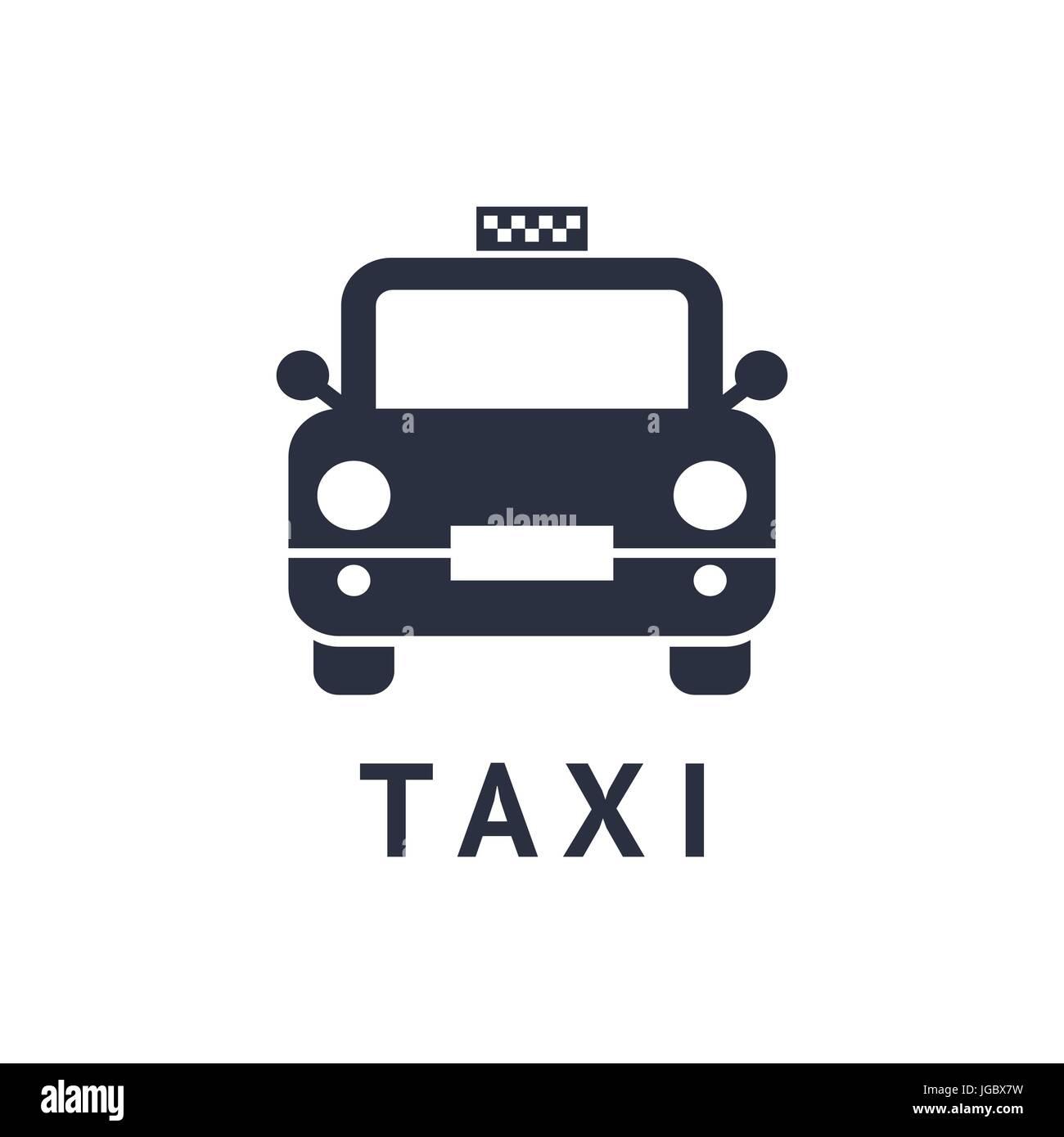 Digitale Vektor schwarz Reisen Taxi Transport Auto-Symbol mit ...