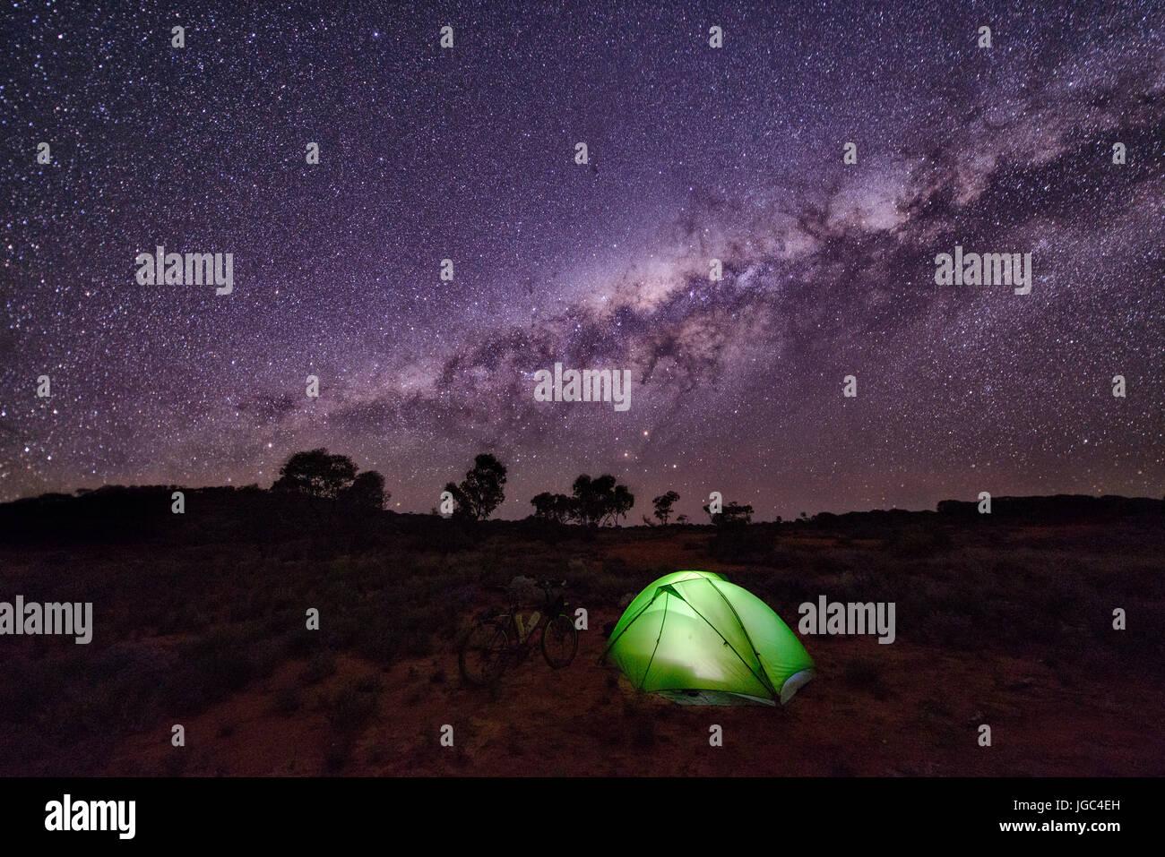 Camping in Australien Stockfoto