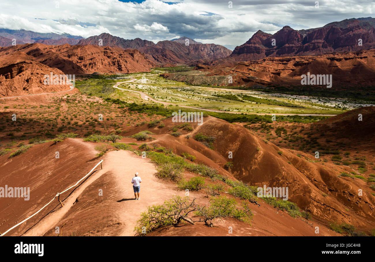 Die Straße von Cachi nach San Antonio de los Cobres, in Puna Region Salta im Norden Argentiniens Stockbild