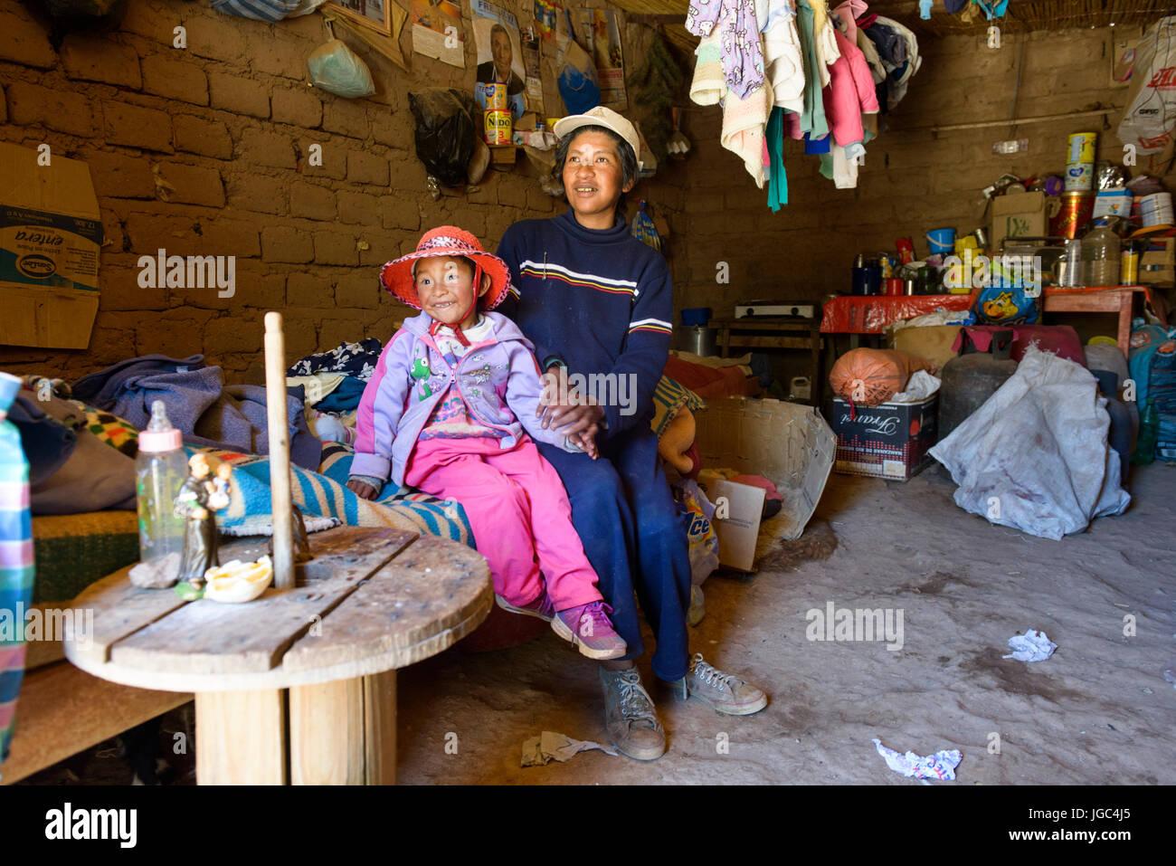 Die indigene Bevölkerung Der puna Region, Norden Argentiniens Stockbild