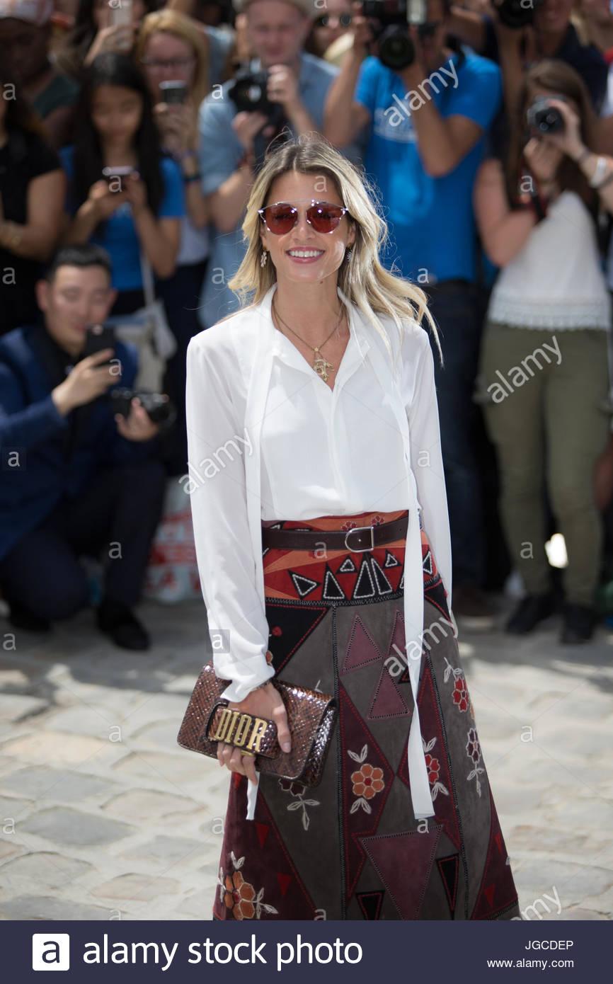 Paris, Frankreich. 3. Juli 2017. Brasilianische Mode-Blogger Helena ...