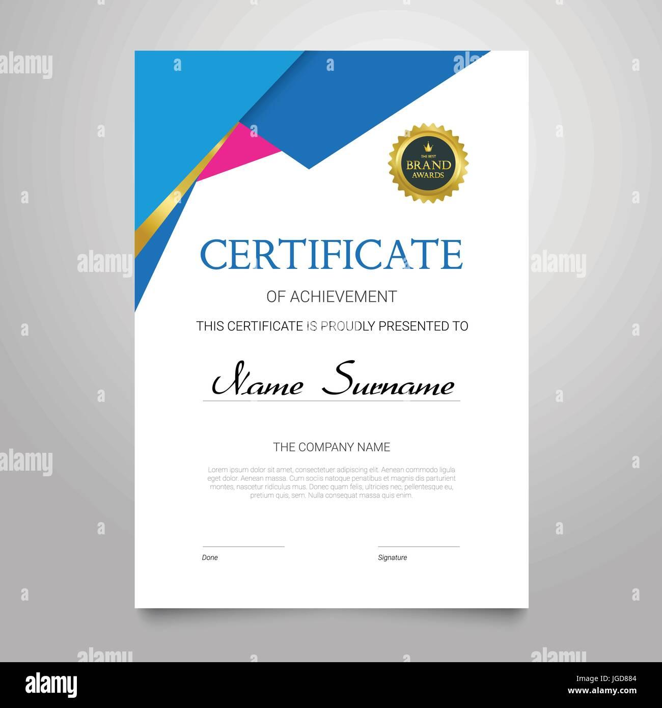 Zertifikat - moderne vertikale elegante Vektor Dokument mit Luxus ...