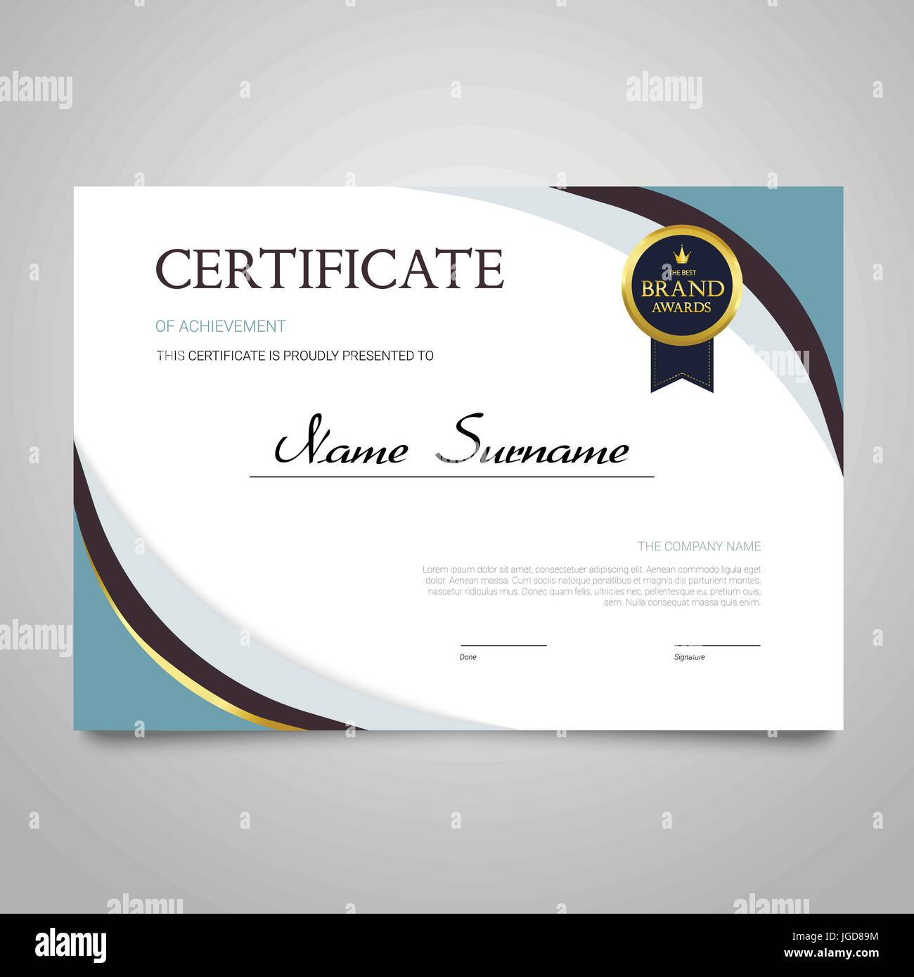 Zertifikat - moderne horizontale elegante Vektor Dokument mit Luxus ...