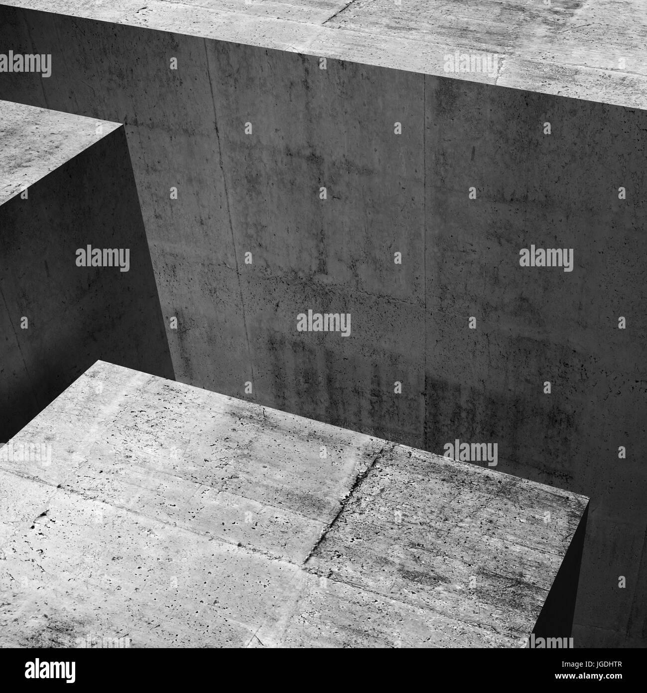 Abstrakte konkrete Interieur mit geometrischen Formen ...