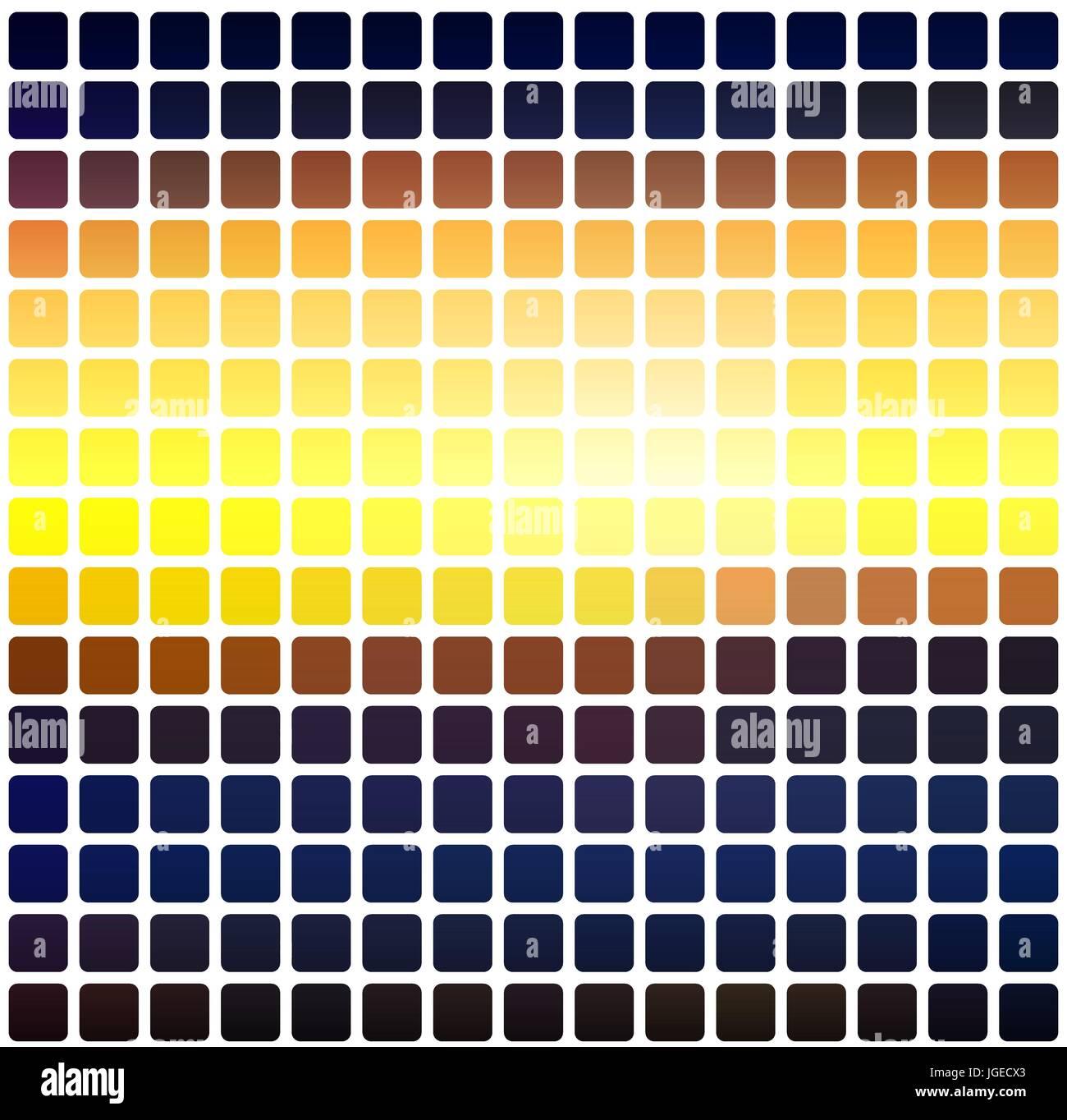 Blau Gelb Orange Schwarz Vektor Abstrakt Abgerundete Ecken Fliesen