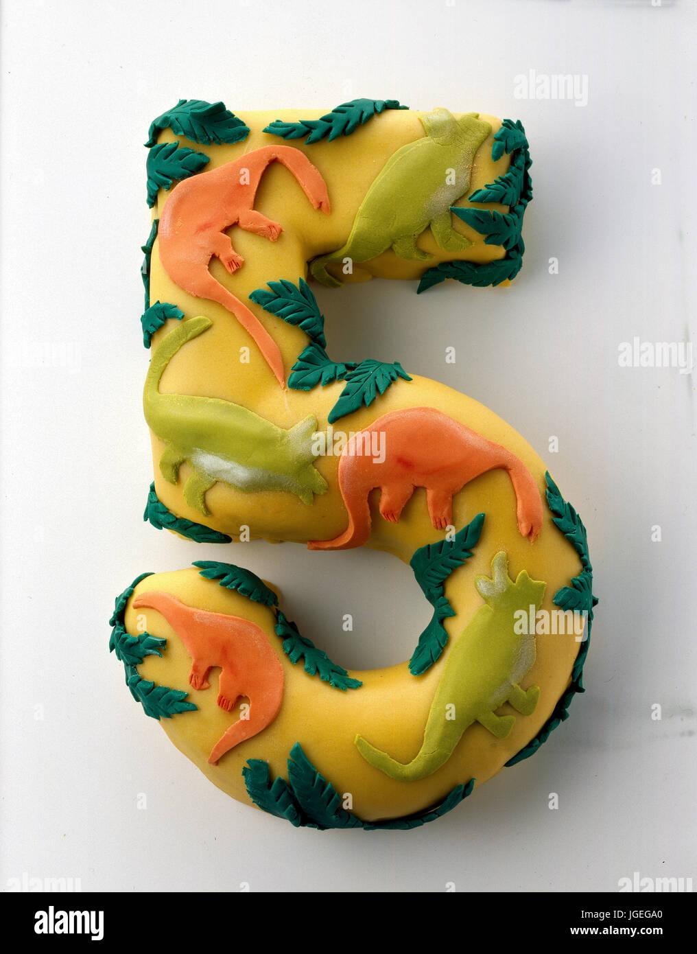 Neuheit Childrens Birthday Cake Eingerichtet 5 Geburtstag Kuchen