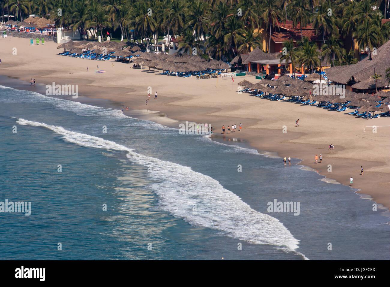 Ixtapa/Zihuatanejo Strand Landschaft Stockbild