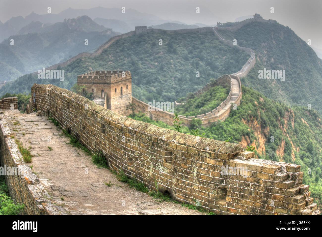 Great Wall Of China Jinshanling Stockbild
