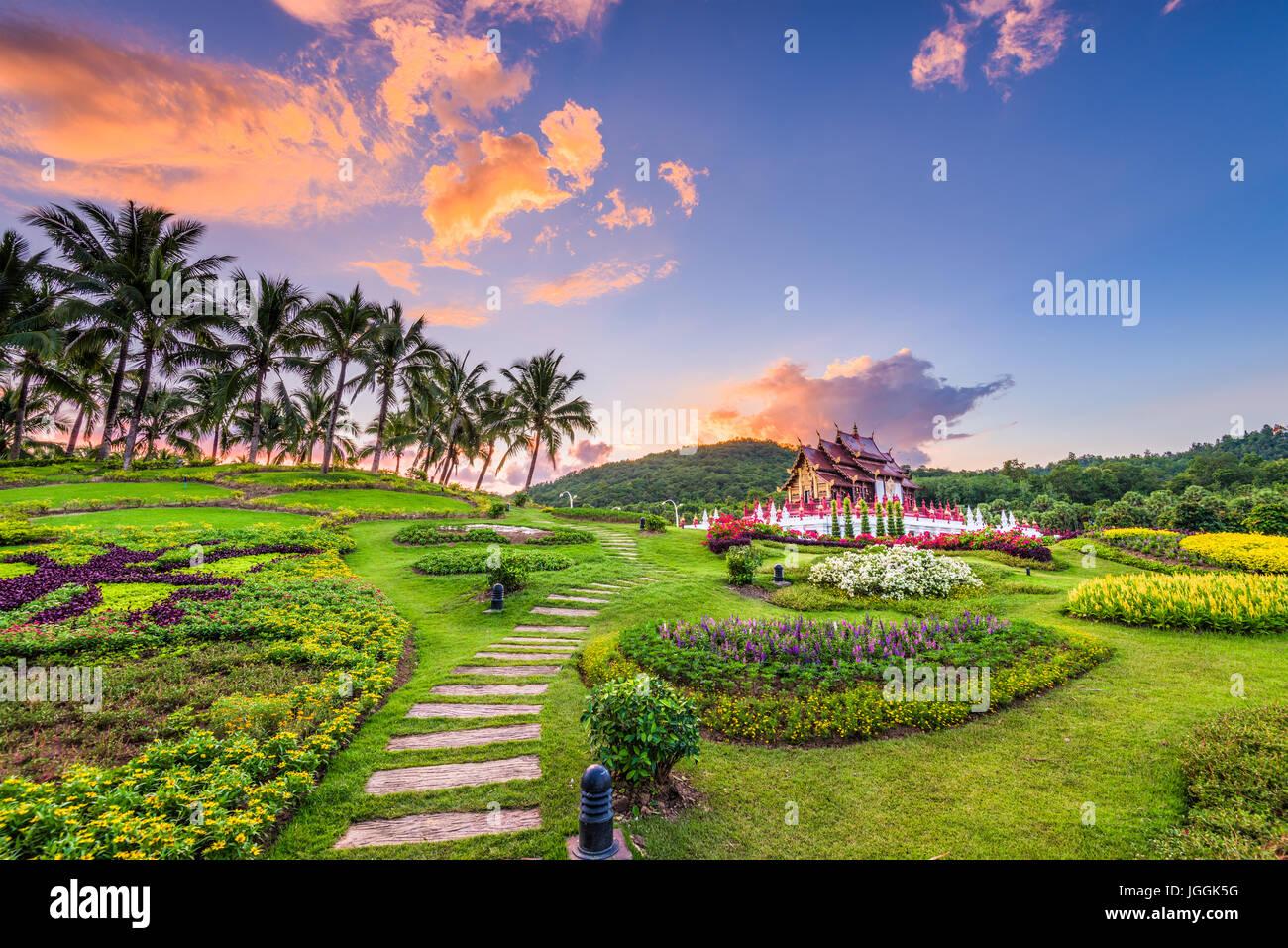 Chiang Mai, Thailand im Royal Flora Ratchaphruek Park. Stockbild