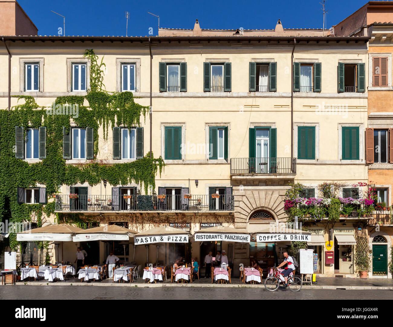 Restaurant Panzirone, Piazza Navona, Rom, Latium, Italien Stockbild