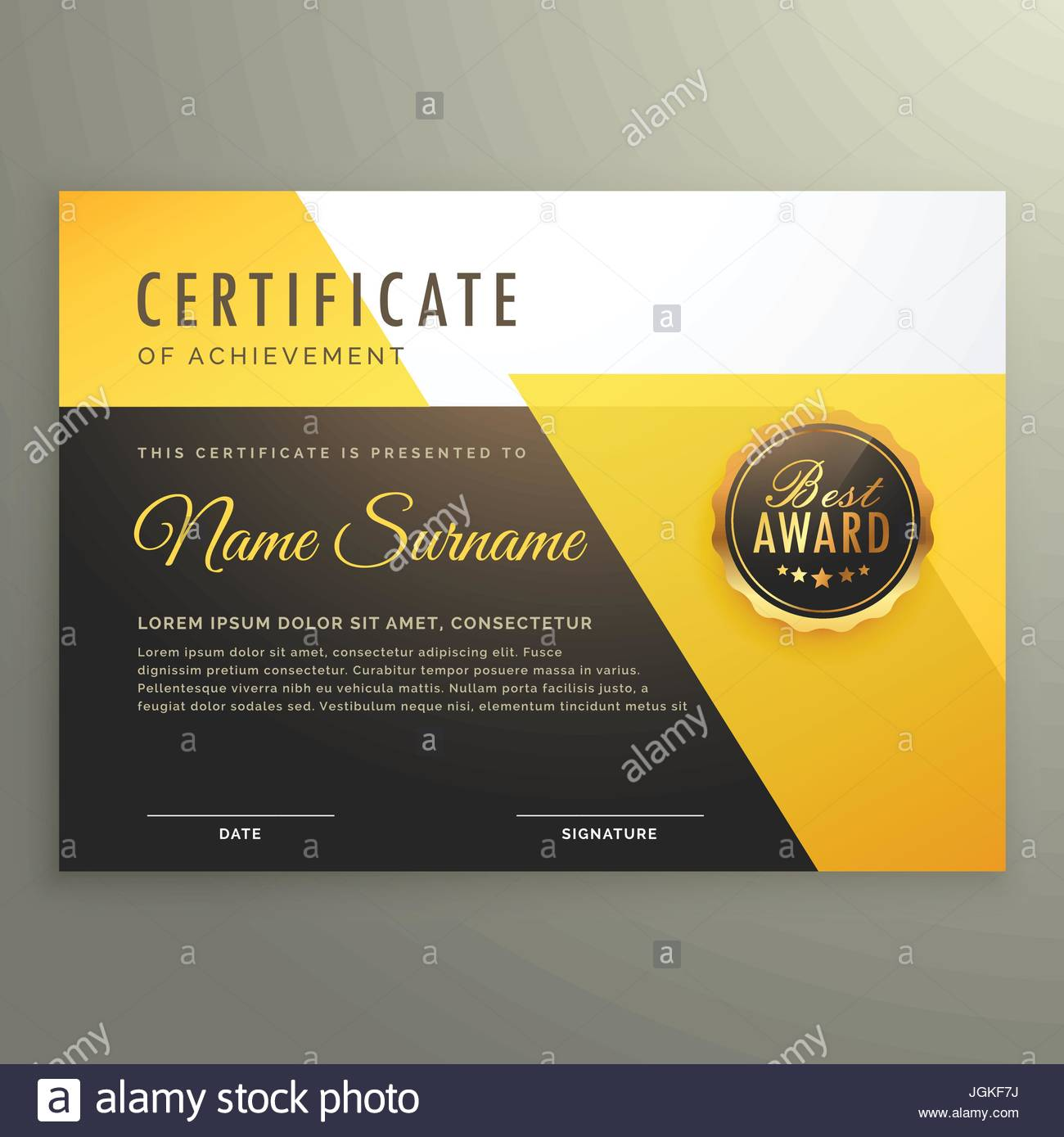 Certificate Appreciation Creative Template Stockfotos & Certificate ...