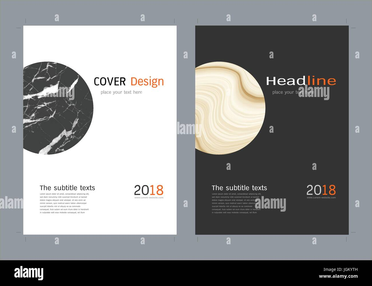 Minimale deckt Designset, trendige Vorlage Inspiration für Ihr ...