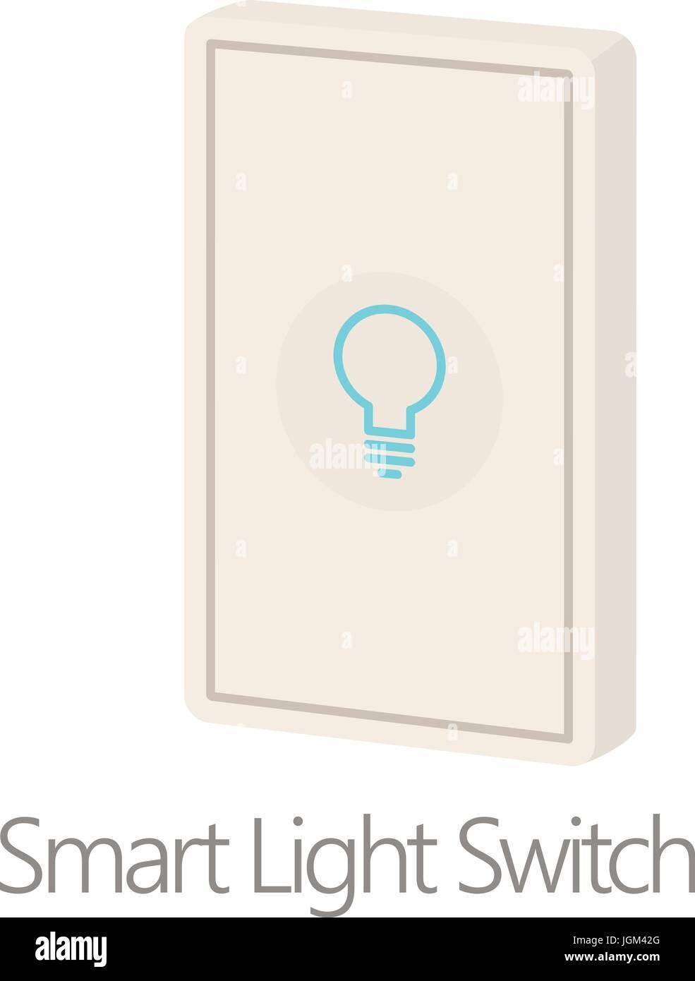 Intelligente Lichtschalter Symbol, Cartoon-Stil Vektor Abbildung ...