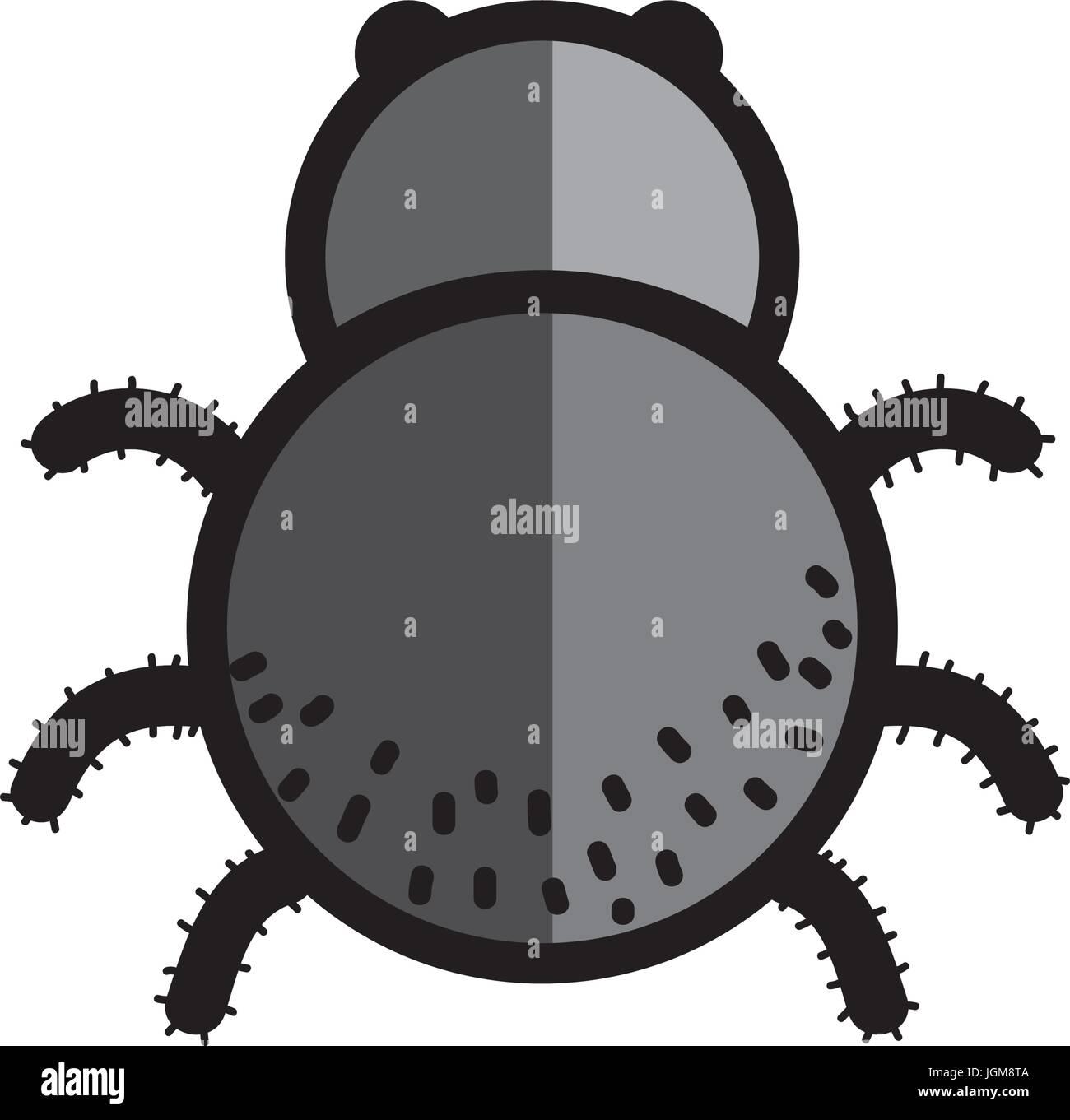 Spinne Insekten gefährlich und Tier Symbol Symbol Stockbild