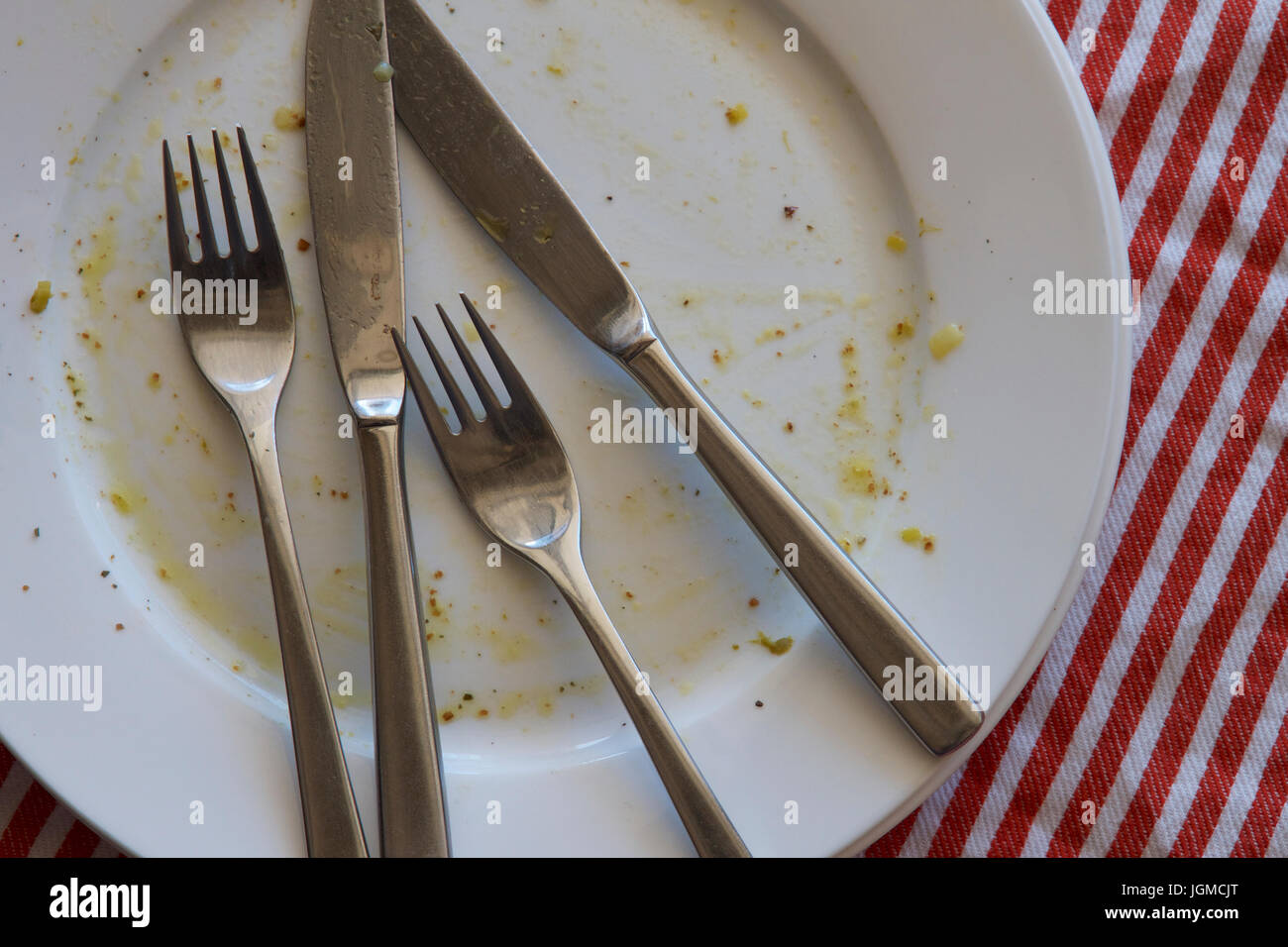 dirty dinner plates stockfotos dirty dinner plates bilder alamy. Black Bedroom Furniture Sets. Home Design Ideas
