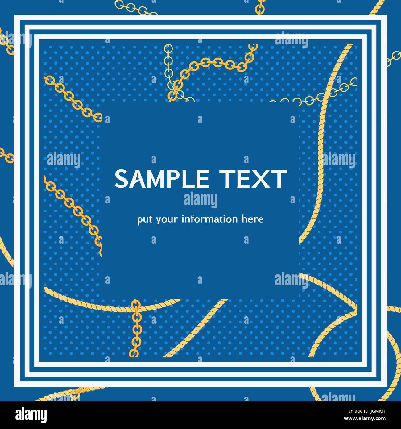Nautische Rahmen für text Vektor Abbildung - Bild: 147971904 - Alamy