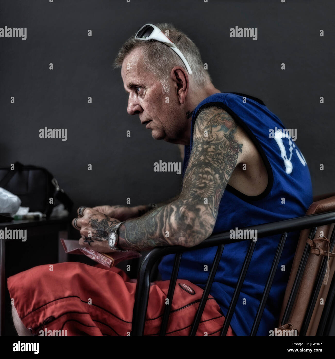 tattoo man arm stockfotos tattoo man arm bilder seite. Black Bedroom Furniture Sets. Home Design Ideas