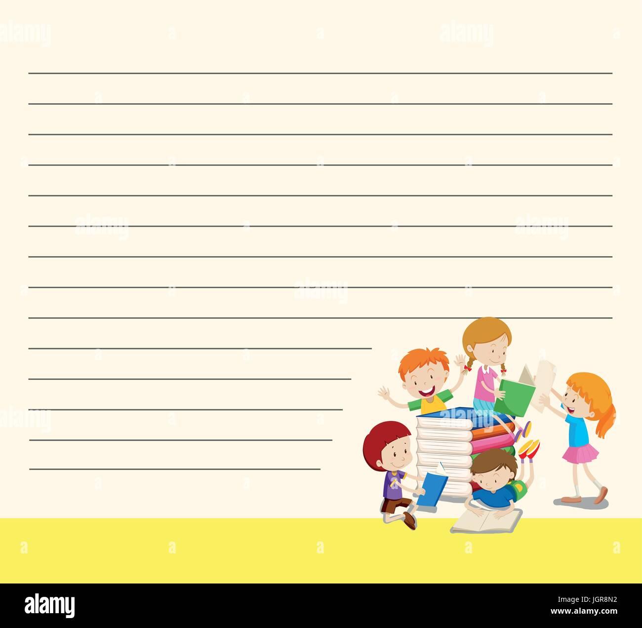 Illustration Line Drawing Reading Book Stockfotos & Illustration ...
