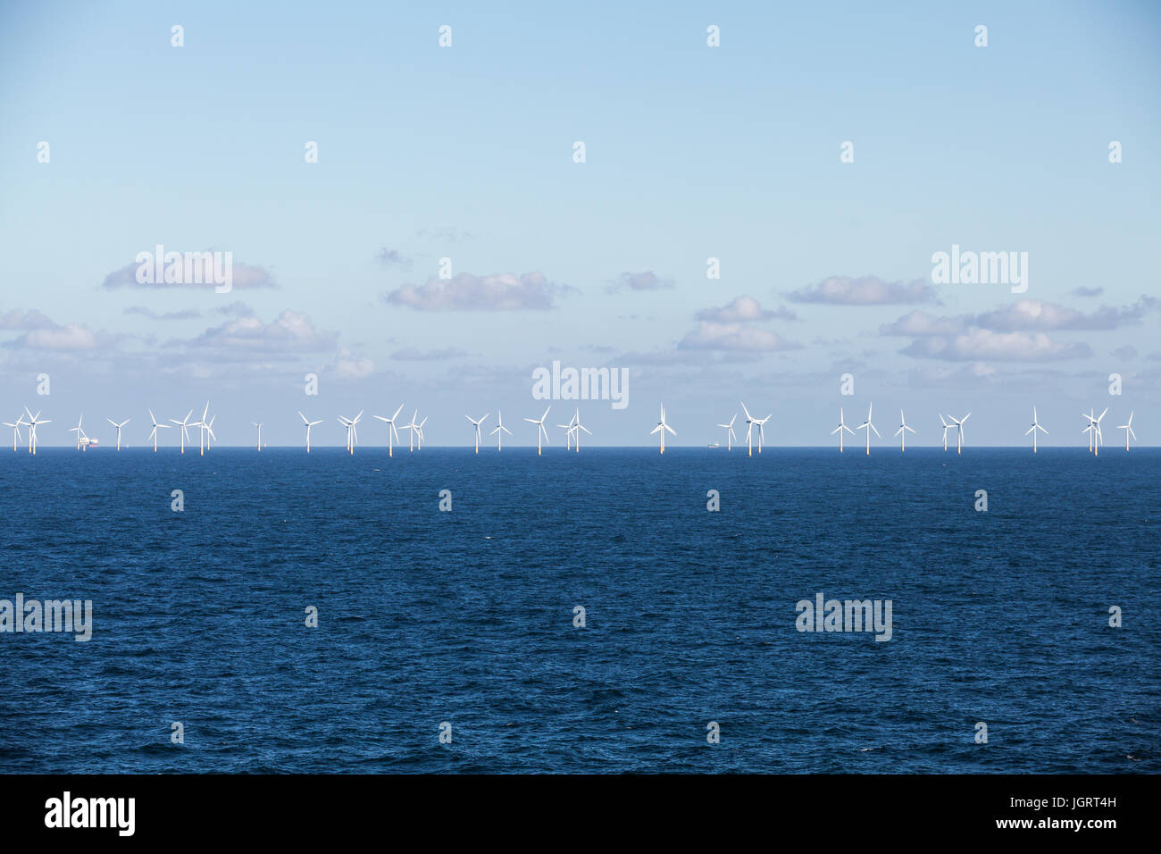 Offshore-Windpark Stockbild