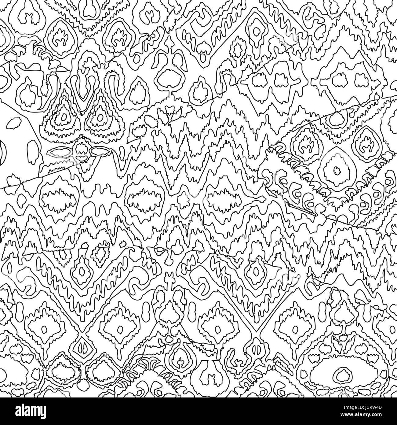 Ethnische böhmischen Arabeske Muster Gliederung Doodle. Zick-Zack ...