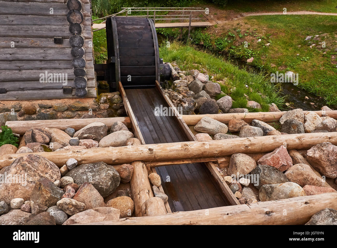 timber dam stockfotos timber dam bilder alamy. Black Bedroom Furniture Sets. Home Design Ideas