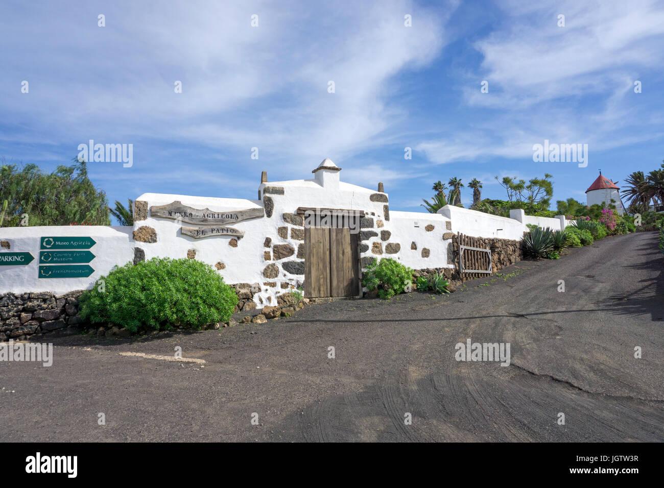 Landwirtschaft Museum, das Museo Agrícola El Patio, Tiagua, Provinz Teguise, Lanzarote, Kanarische Inseln, Stockbild