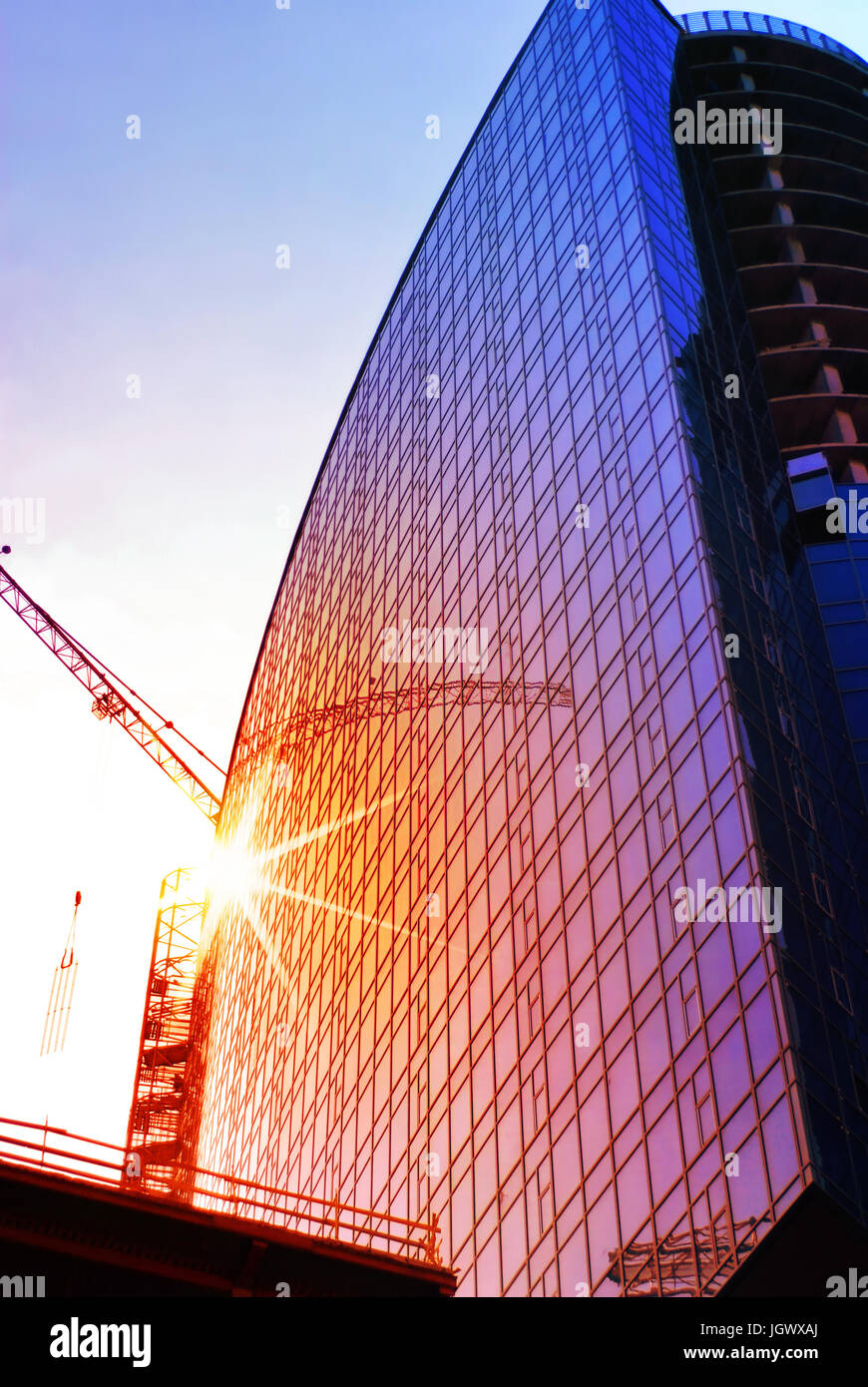 Bau des Wolkenkratzers, Projekt-engineering Stockbild