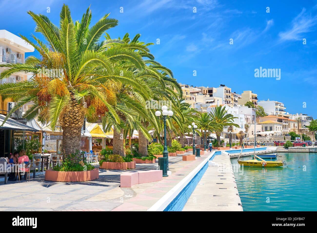 Promenade in Sitia, Kreta, Griechenland Stockbild