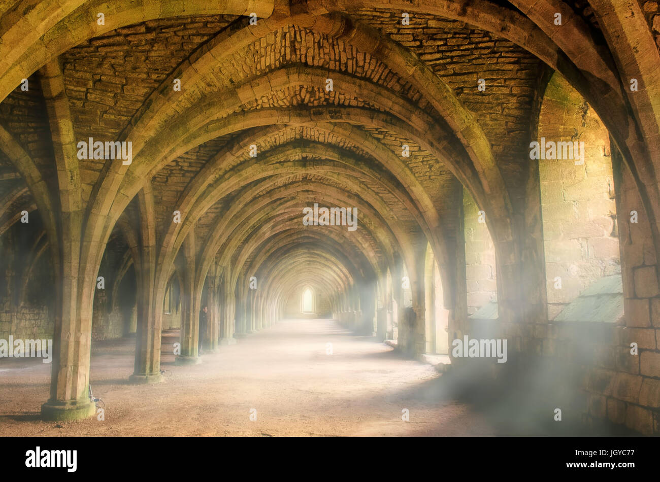 Fountains Abbey Stockbild