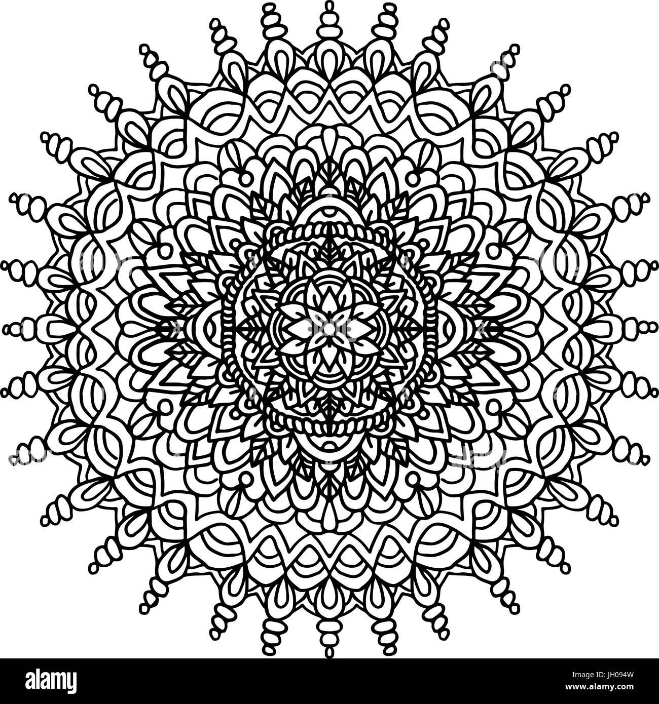 Abstrakte Mandala Ornament Für Erwachsene Malbücher Asiatische