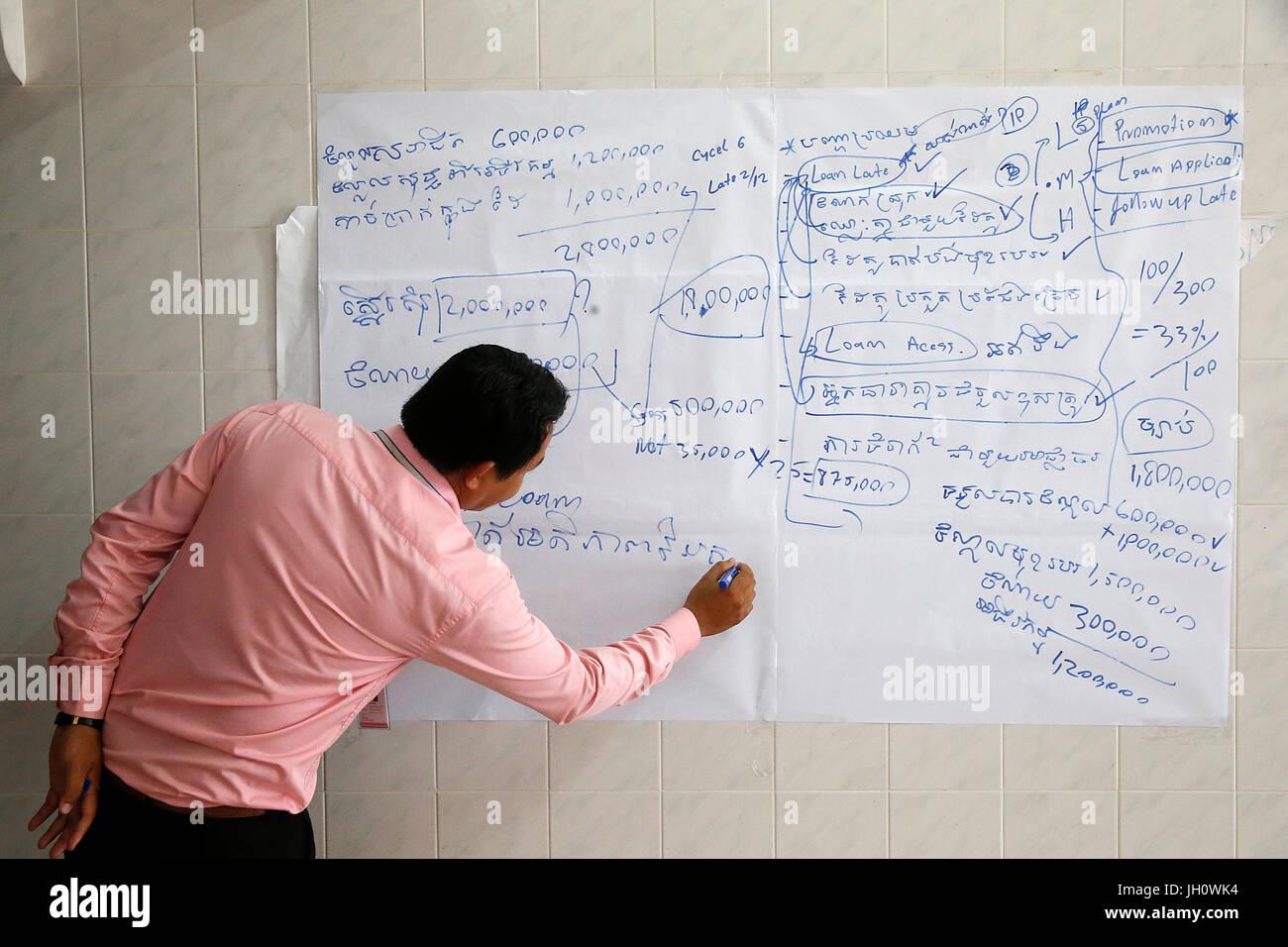 Chamroeun Microfinance Battambang Niederlassung. Kambodscha. Stockbild
