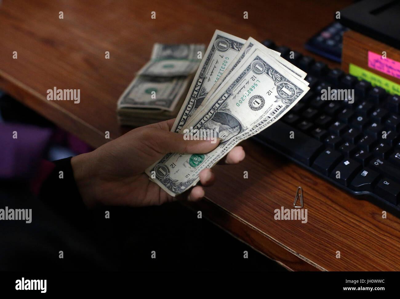 AMK Mikrofinanz, Siem Reap-Niederlassung. Kambodscha. Stockbild