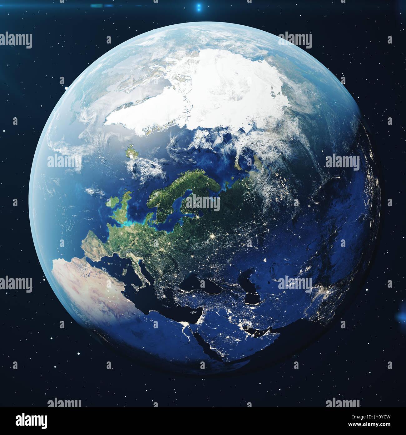 Inspirierend Weltkugel 3d Referenz Von Rendering Erde Aus Dem Weltraum In Der