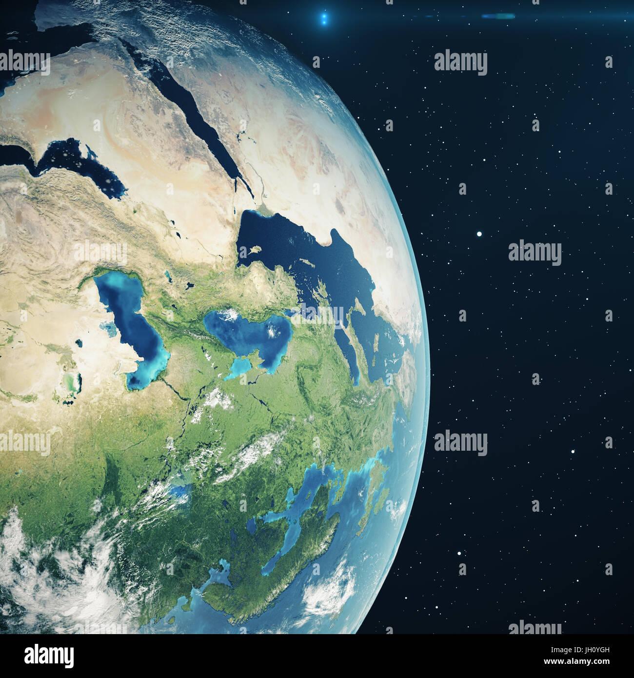 Entzückend Weltkugel 3d Das Beste Von Rendering Erde Aus Dem Weltraum In Der