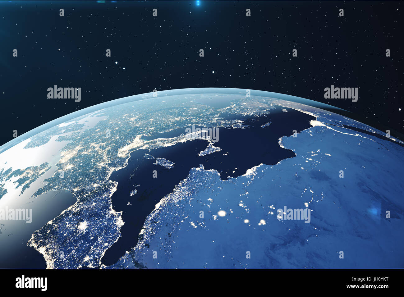 Entzückend Weltkugel 3d Foto Von Rendering Erde Aus Dem Weltraum In Der