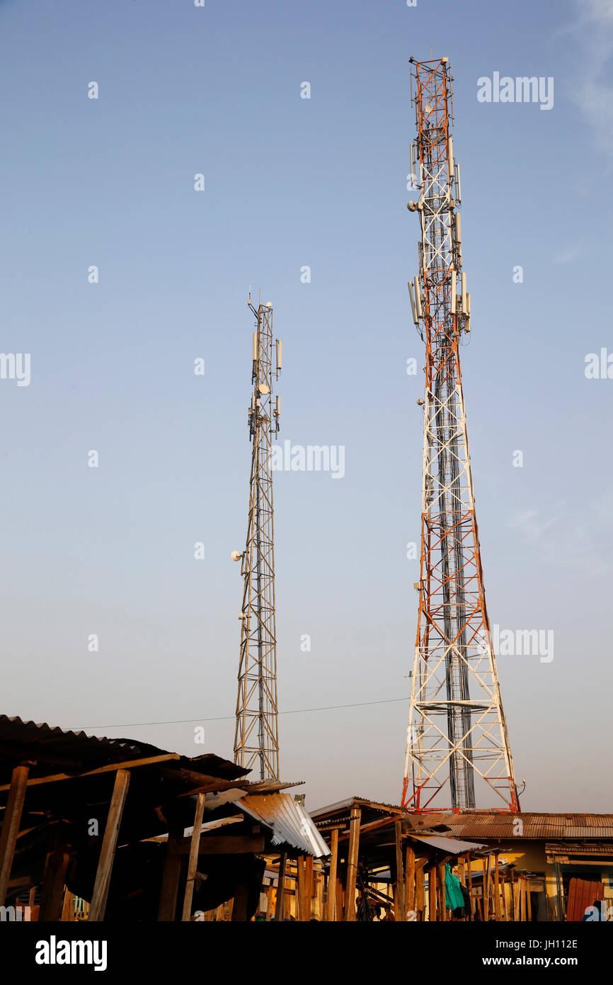 Antennen. Uganda. Stockbild