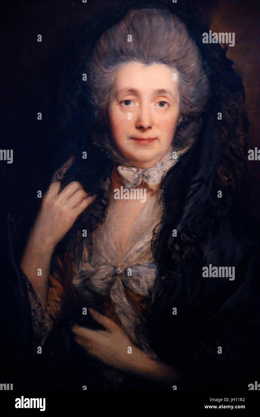Die Courtauld Gallery.Thomas Gainsborough. Frau Gainsborough. Um 1778 / 79. Öl auf Leinwand. Vereinigtes Königreich. Stockbild