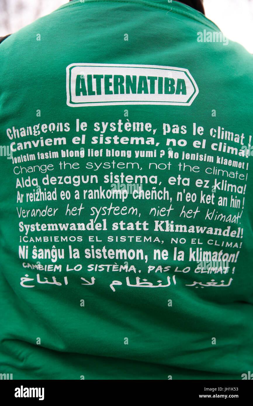 Völker-Klima-Gipfel - Sommet Citoyen pour le Climat. Frankreich. Stockbild