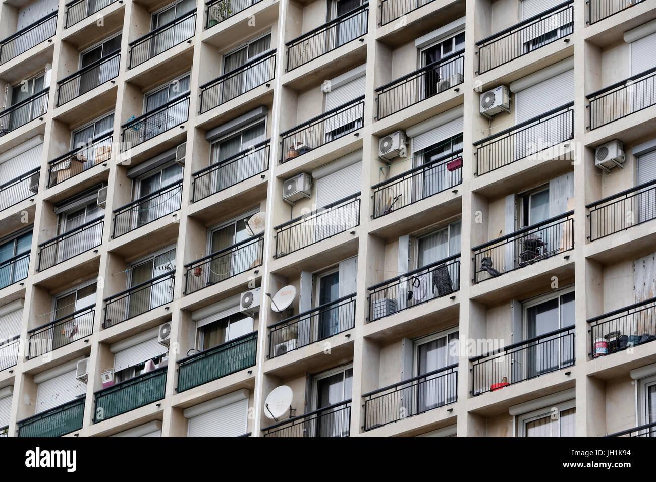 Die Innenstadt von Marseille Gebäude. Frankreich. Stockbild