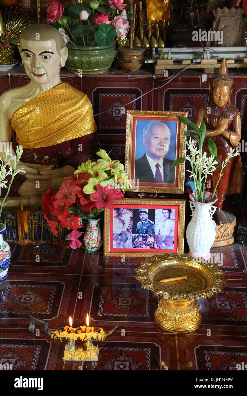 Fotos in einem Khmer-Pagode. Kambodscha. Stockbild