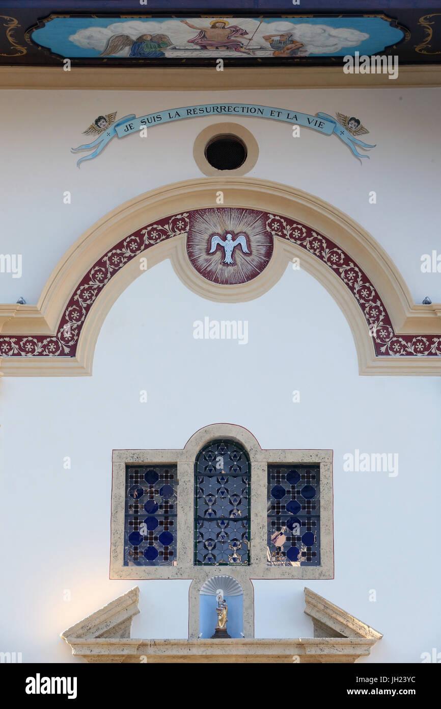 Restaurierung von Saint Gervais Barockkirche.  Fassade nach der Renovierung.  Frankreich. Stockbild
