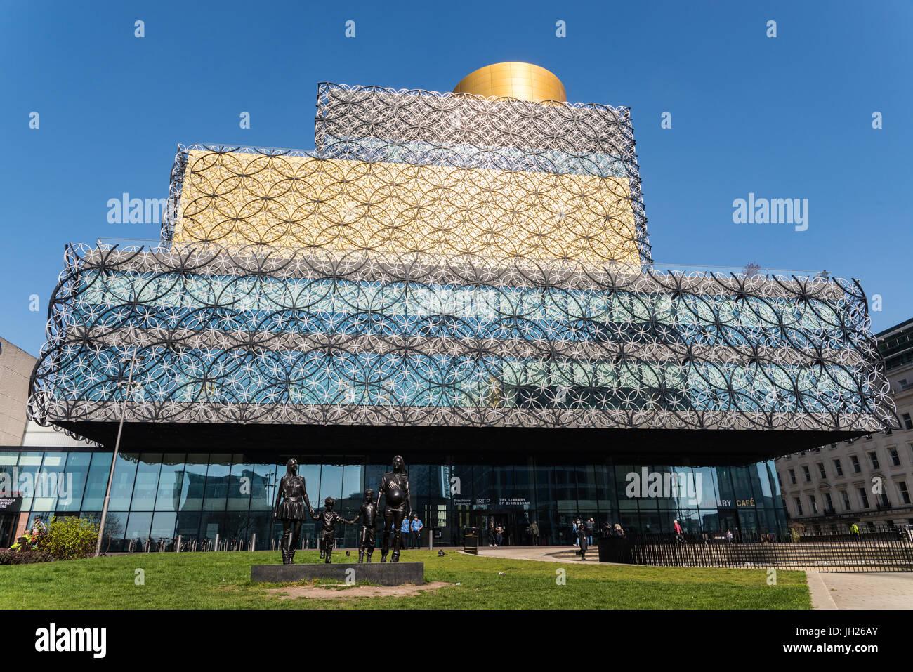 Die Library of Birmingham, eine öffentliche Bibliothek in Birmingham, England, Vereinigtes Königreich, Stockbild