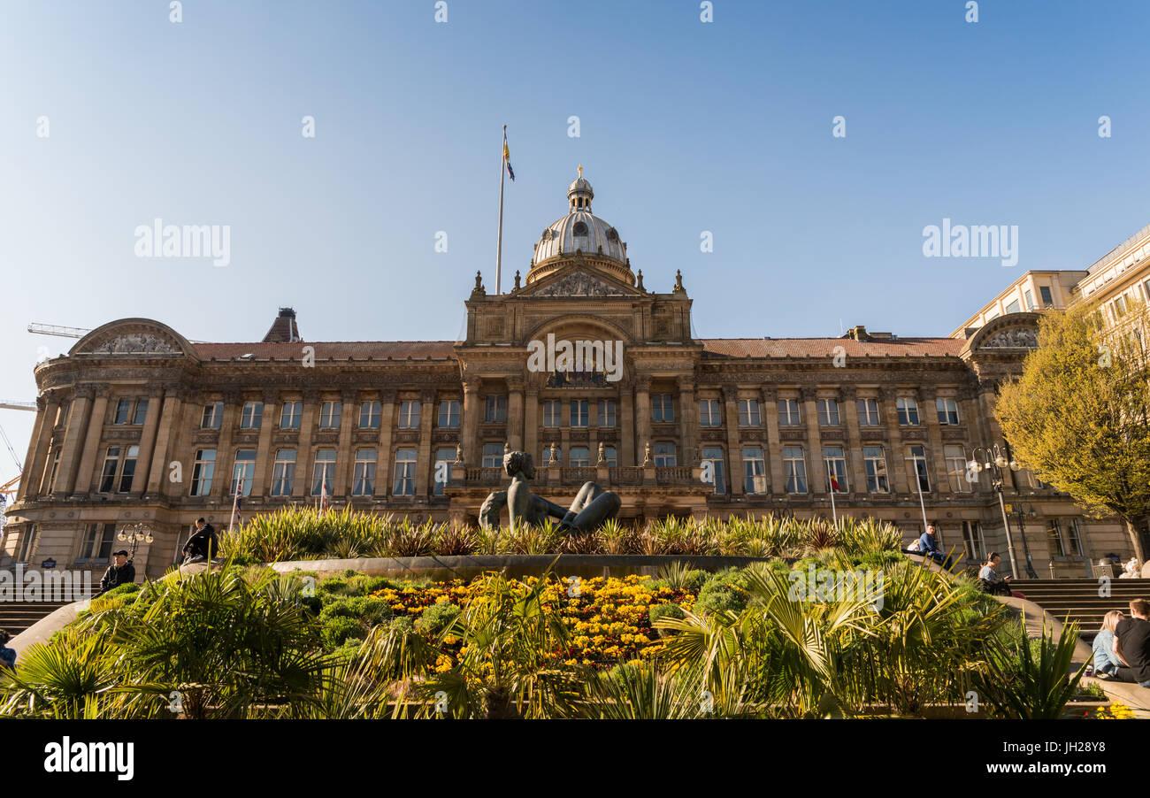 Victoria-Platz, eine Fußgängerzone öffentliche Platz in Birmingham, England, Vereinigtes Königreich, Stockbild