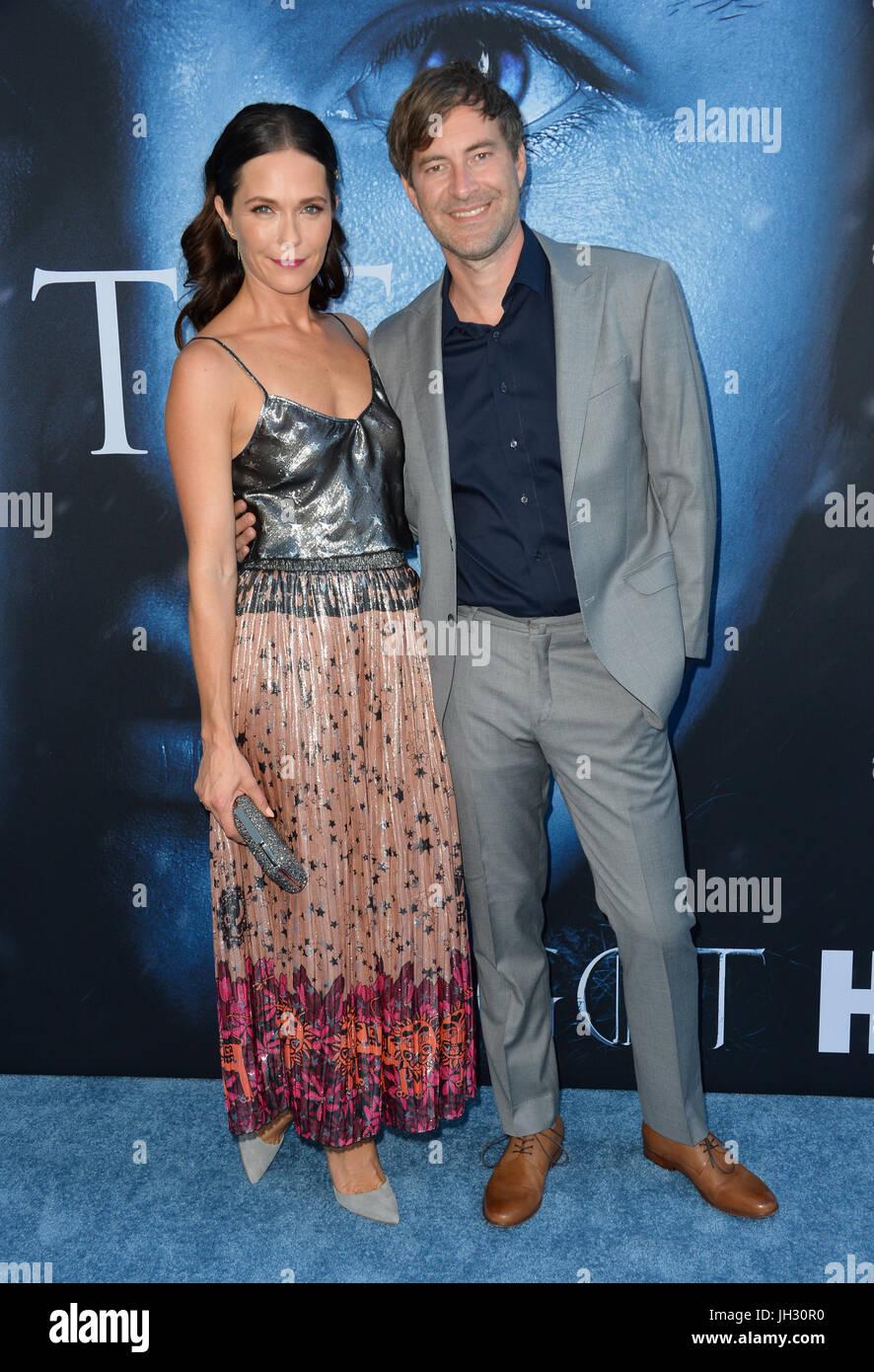 Los Angeles Usa 12 Juli 2017 Schauspieler Mark Duplass Frau